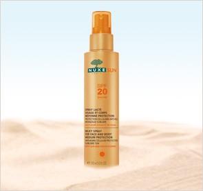Nuxe SunLeche Corporal y Facial, Spray SPF 20. 150ml